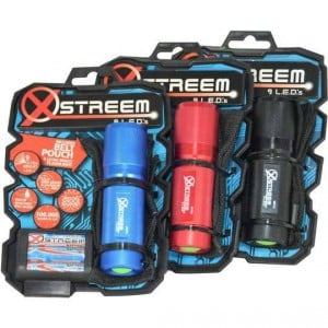 Xstreem 9 Led Flashlight With Pouch