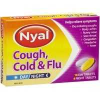 Nyal Tablets Cold And Flu 18 Day & 6 Night