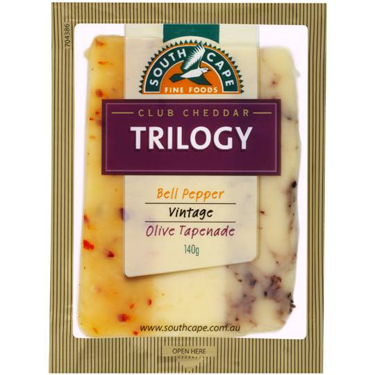 South Cape Trilogy Olive Pepper Vintage Cheddar Cheese