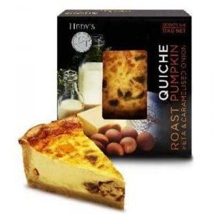 Hedy's Quiche Roast Pumpkin Fetta & Onion