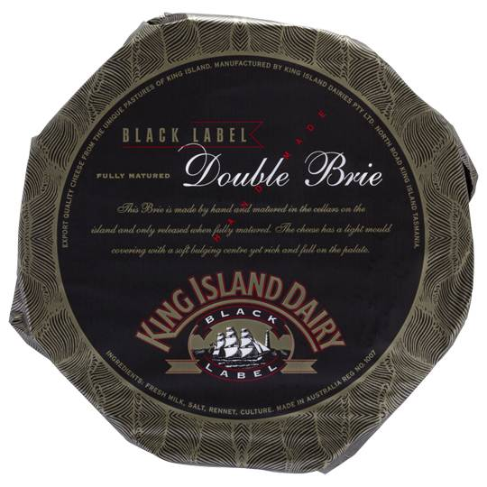 King Island Cheese Double Brie Black Label