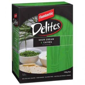 Fantastic Delites Snacks Sour Cream & Chives