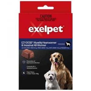 Exelpet Ezy-dose Dog Treatment Heart & Intestinal Allwormer