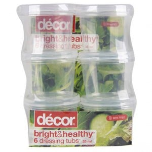 Decor Bright & Healthy Snack & Dip Tubs