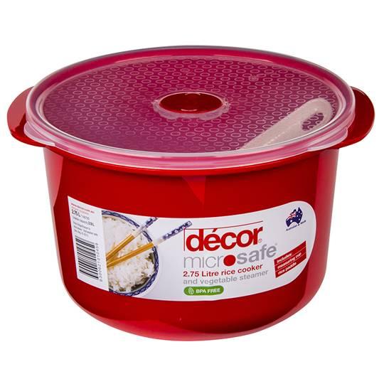 Decor Microsafe Rice Cooker & Veg Steamer