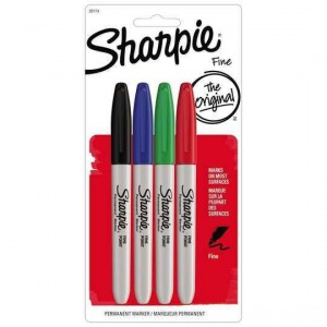 Sharpie Cd Marker Fine 4 Colour