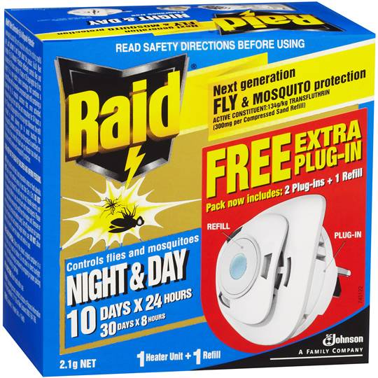 Raid Night & Day Primary Insect Control Fly & Mosquito Protection