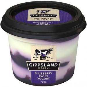 Gippsland Dairy Twist Blueberry Yoghurt
