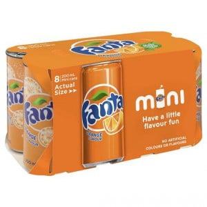 Fanta Orange Mini Can