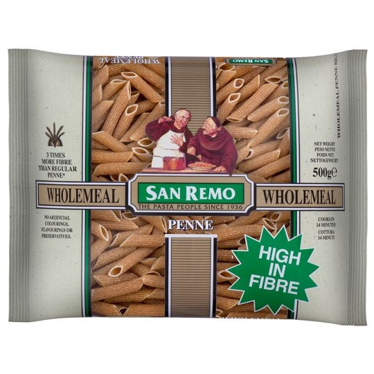 San Remo Penne Wholemeal Pasta