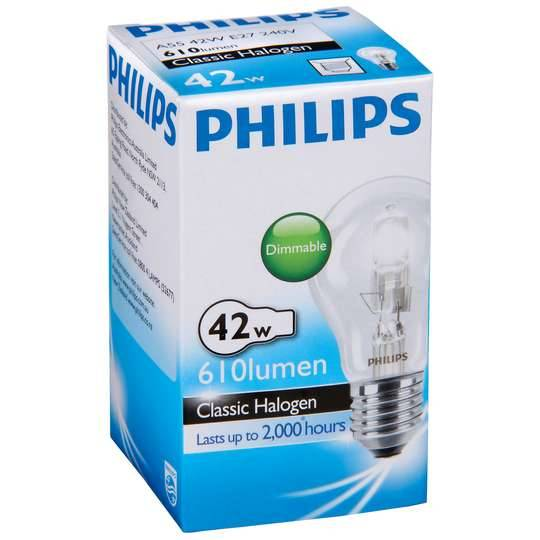 Philips Halogen Clear Globe 42w Es Base