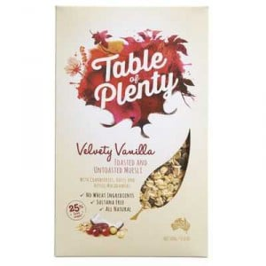 Table Of Plenty Velvety Vanilla Muesli