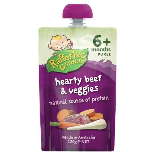 Rafferty's Garden Food 6 Months Hearty Beef & Veggie Puree