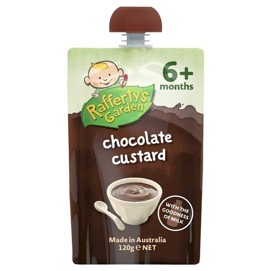 Rafferty's Garden Food 6 Months Chocolate Custard