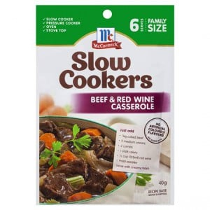 Mccormick Slow Cookers Beef & Red Wine Casserole