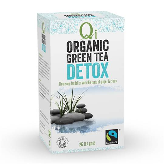 Qi Wellness Organic Detox Green Tea Bags