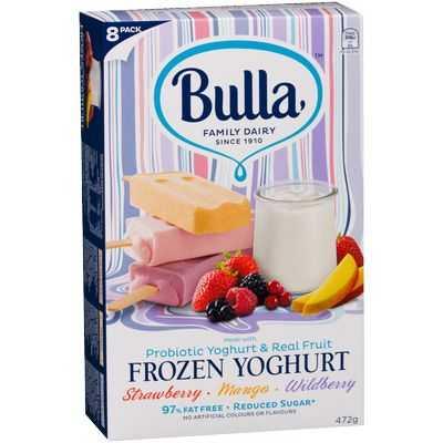 Bulla Frozen Yoghurt Strawb Mango Wildberry