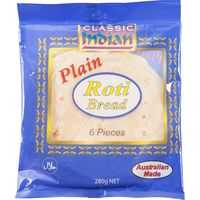 Classic Indian Bread Roti Plain