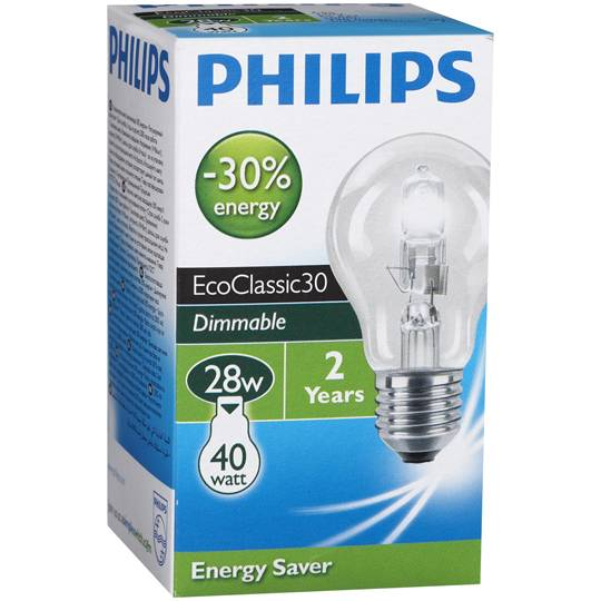 Philips Halogen Clear Globe 28w Es Base