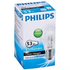 Philips Halogen Clear Globe 53w Es Base