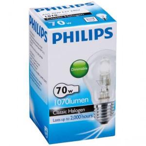 Philips Eco Halogen Globe 70w Es Base