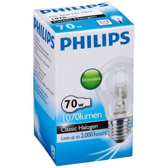 Philips Eco Halogen Globe 70w Es Base