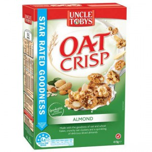 Uncle Tobys Almond Oat Crisp