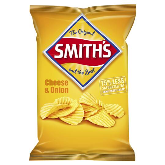 Smith's Chips Single Pack Crinkle Cheese & Onion