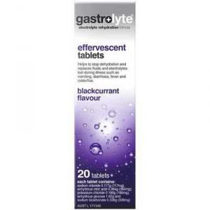Gastrolyte Effervescent Electrolyte Rehydration Blackcurrant