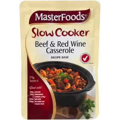 Masterfoods Slow Cooker Beef & Red Wine Casserole