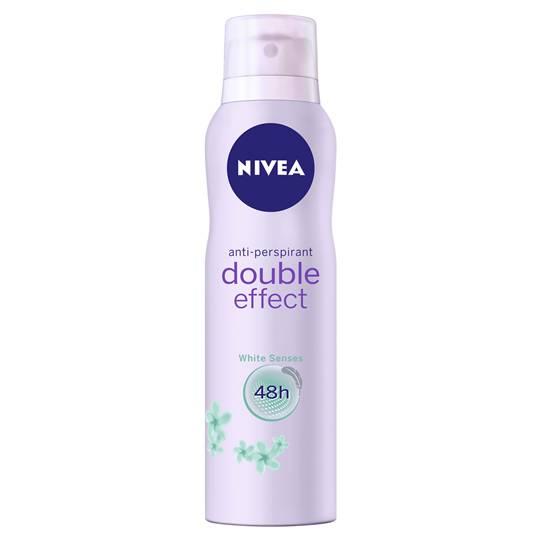 Nivea Deodorant Aerosol Double Effect White Senses
