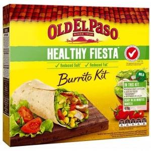 Old El Paso Dinner Kit Buritto Healthy Fiesta