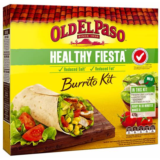 Old El Paso Dinner Kit Buritto Healthy Fiesta