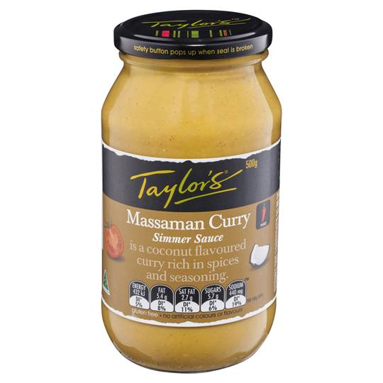 Taylors Simmer Sauce Massaman Curry