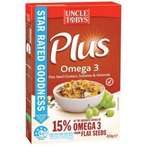 Uncle Tobys Plus Omega 3
