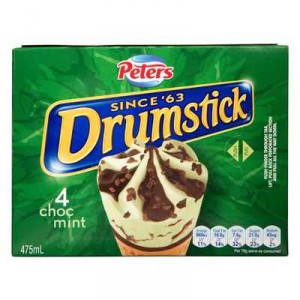 Peters Drumstick Ice Cream Choc Mint