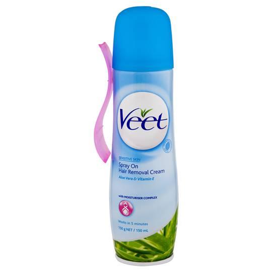 Veet Hair Removal Cream Spray On Sensitive Skin
