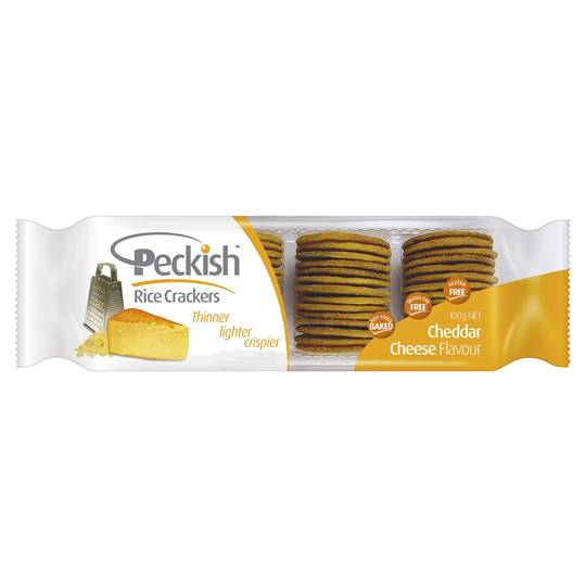 Peckish Thins Rice Crackers Cheddar Cheese