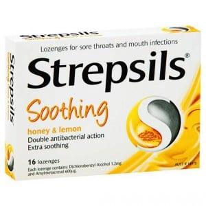 Strepsils Lozenges Honey And Lemon