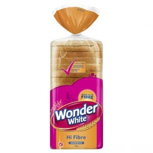 Wonder White White Hi Fibre Sandwich Slice Bread
