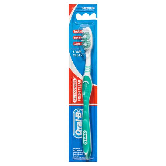 Oral-b All Rounder Fresh Clean Toothbrush Medium