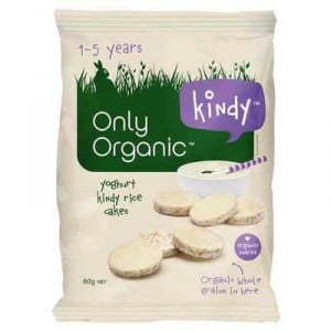 Only Organic Snack Mini Yoghurt Rice Cakes