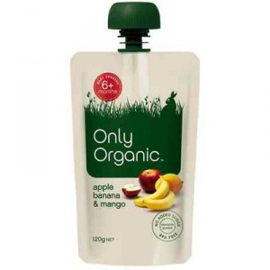 Only Organic 6 Months+ Apple Banana & Mango