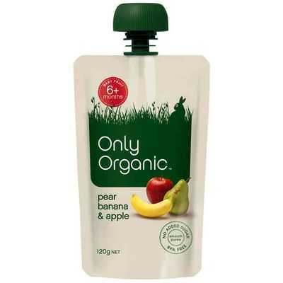 Only Organic Puree Pear Banana & Apple