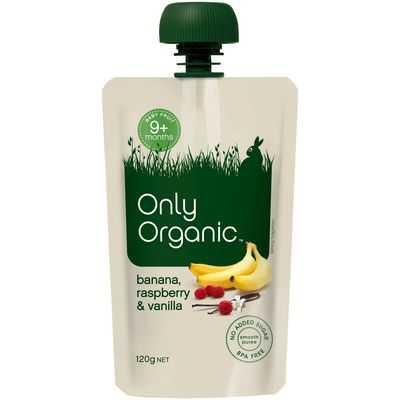 Only Organic 9 Months Banana Raspberry & Vanilla