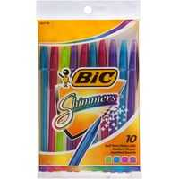Bic Shimmers Grip Pen Ballpoint Pouch