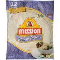Mission Ingredients Burrito Tortillas