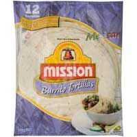 Mission Ingredients Burrito Tortillas