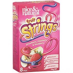 Nice & Natural Fruit Strings Strawberry