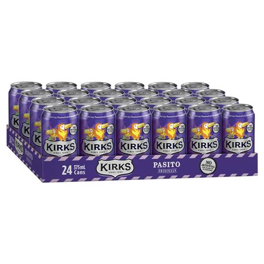 Kirks Pasito Passionfruit Cans